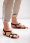 Czarne Sandały Nosegay