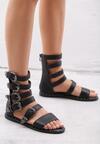 Czarne Sandały Healing