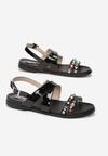 Czarne Sandały Looped