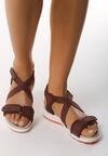 Bordowe Sandały Migration
