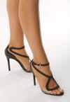 Czarne Sandały Amaretto