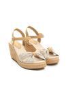 Beżowe Sandały Creme Brulee