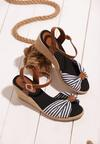 Czarne Sandały Matelot