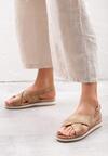 Ciemnobeżowe Sandały Mellowness