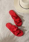 Czerwone Klapki Briquette