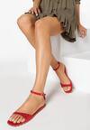 Czerwone Sandały Silver Dawn
