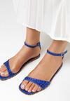 Niebieskie Sandały Silver Dawn