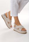 Beżowe Sandały Halfway To Paradise
