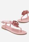 Różowe Sandały Shimmer Heart