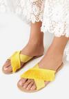 Żółte Klapki Tasselled
