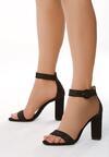 Czarne Sandały Upscale