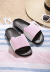 Biało-Różowe Klapki Minnie's Shoes