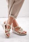 Beżowe Sandały Robust Design