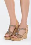 Brązowe Sandały Maturity