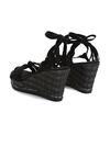 Czarne Sandały Tangelo