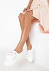 Białe Slip On Woven Comforts