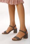 Granatowe Sandały Con Calma