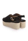 Czarne Sandały Undisputable