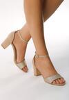 Beżowe Sandały Power-Loving