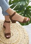 Brązowe Sandały Hot Tempered