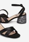 Czarne Sandały Incontestable