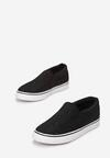 Czarne Slip On Mime