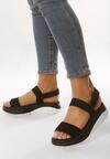 Czarne Sandały Unrevealeds
