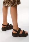 Czarne Sandały Farruca