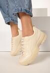 Beżowe Sneakersy Glenda