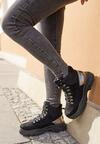 Czarne Sneakersy Cadastre