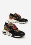 Czarno-Wężowe Sneakersy Termed