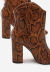Camelowe Wężowe Botki Decibel