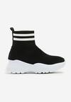 Czarno-Białe Sneakersy Breves