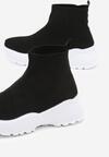Czarno-Białe Sneakersy Smithfield