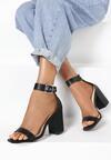 Czarne Sandały Haiphaia