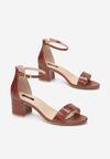 Brązowe Sandały Aglaothilei