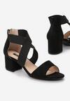 Czarne Sandały Rherea