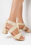Beżowe Sandały Rherea