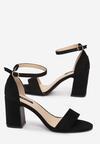 Czarne Sandały Acalethea