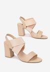 Beżowe Sandały Aegadenah