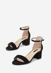 Czarne Sandały Loreria