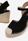 Czarne Sandały Alanohre