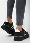 Czarne Sneakersy Aluvere