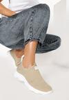 Beżowe Buty Sportowe Amarissa