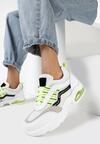 Biało-Limonkowe Sneakersy Natural Glisten
