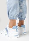 Biało-Niebieske Sneakersy Radiancy