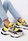 Żółte Sneakersy Prosis