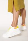 Biało-Żółte Sneakersy Pop Of Colour