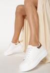 Biało-Złote Sneakersy Pop Of Colour