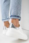 Biało-Srebrne Sneakersy Hypnotic